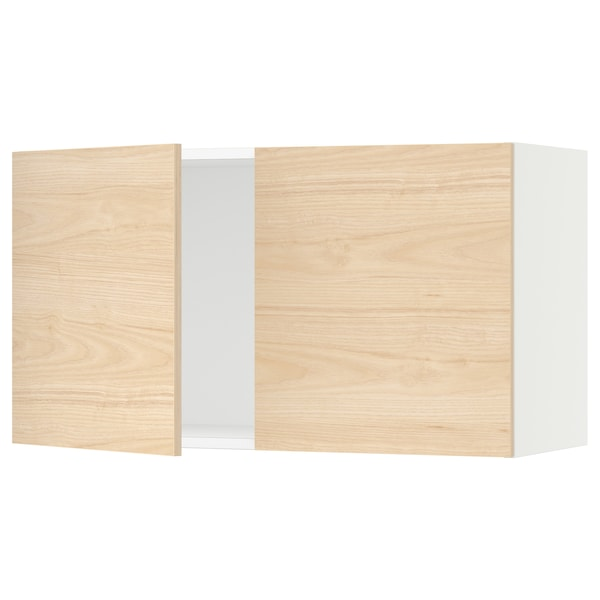 """SEKTION Wall cabinet with 2 doors, white/Askersund light ash effect, 36x15x20 """""""