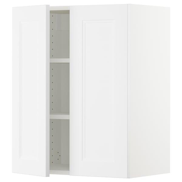 "SEKTION Wall cabinet with 2 doors, white/Axstad matt white, 24x15x30 """