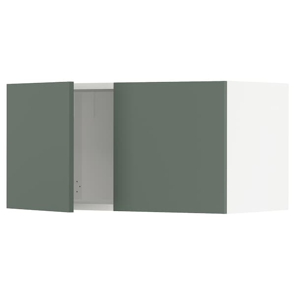 """SEKTION Wall cabinet with 2 doors, white/Bodarp gray-green, 30x15x15 """""""