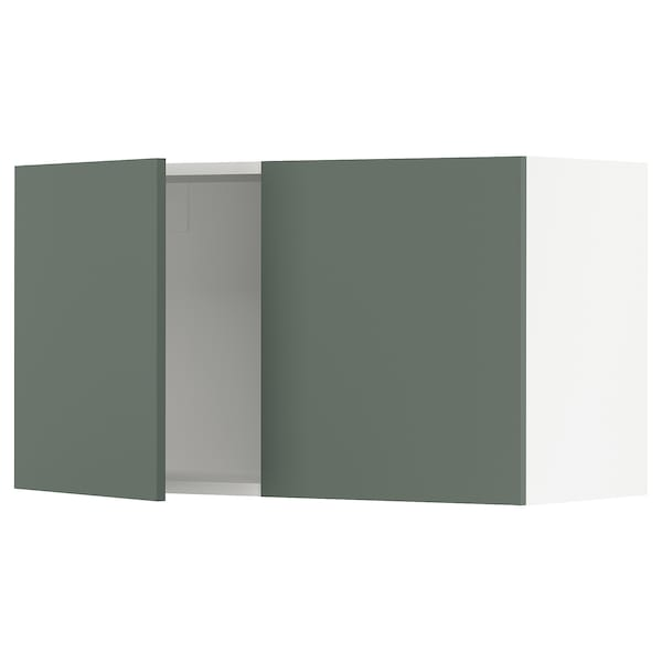 SEKTION Wall cabinet with 2 doors, white/Bodarp gray-green, 36x15x20 ""
