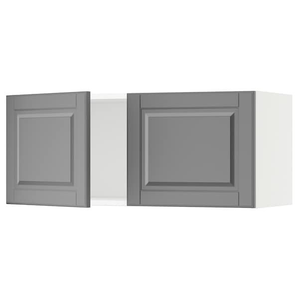 """SEKTION Wall cabinet with 2 doors, white/Bodbyn gray, 36x15x15 """""""