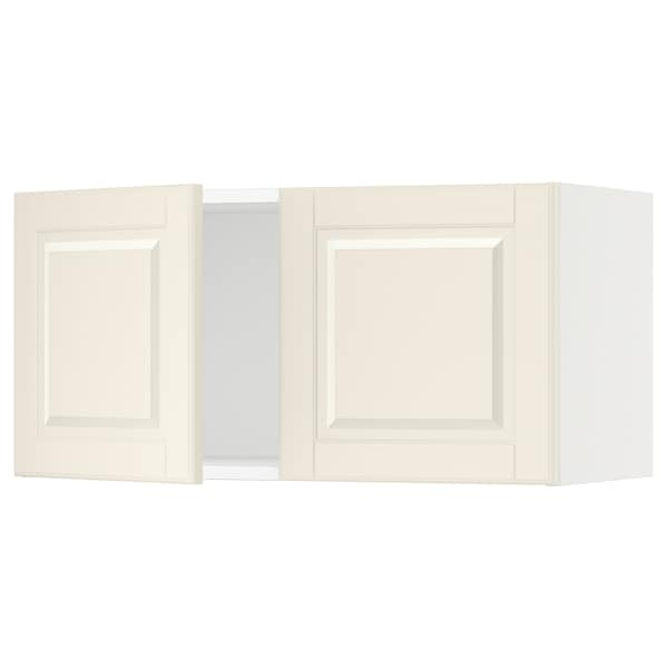 SEKTION Wall cabinet with 2 doors, white/Bodbyn off-white, 30x15x15 ""