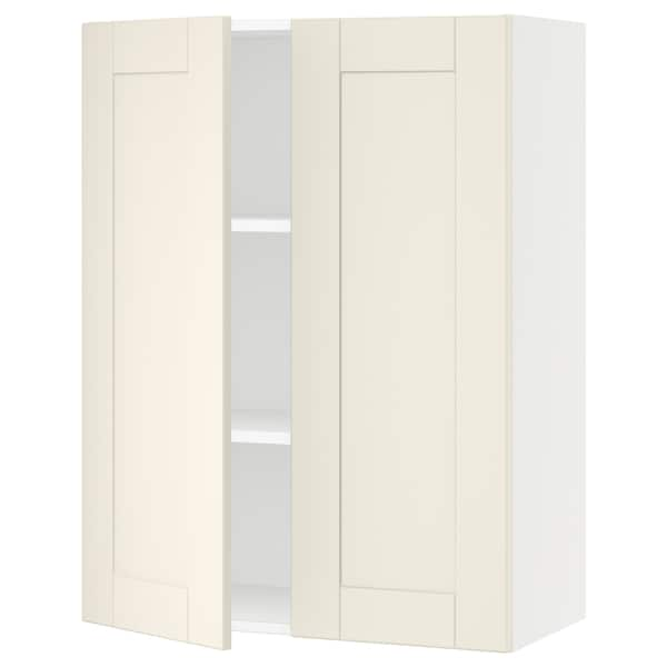 """SEKTION Wall cabinet with 2 doors, white/Grimslöv off-white, 30x15x40 """""""