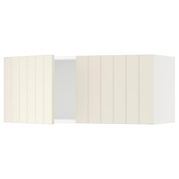 """SEKTION Wall cabinet with 2 doors, white/Hittarp off-white, 36x15x15 """""""