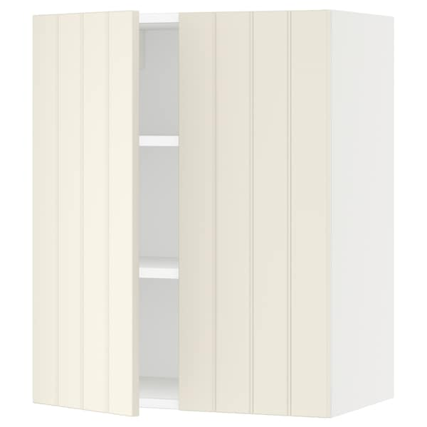SEKTION Wall cabinet with 2 doors, white/Hittarp off-white, 24x15x30 ""