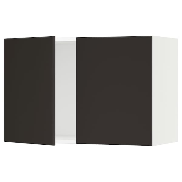 """SEKTION Wall cabinet with 2 doors, white/Kungsbacka anthracite, 30x15x20 """""""