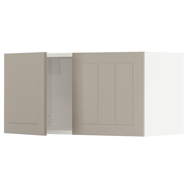 """SEKTION Wall cabinet with 2 doors, white/Stensund beige, 30x15x15 """""""