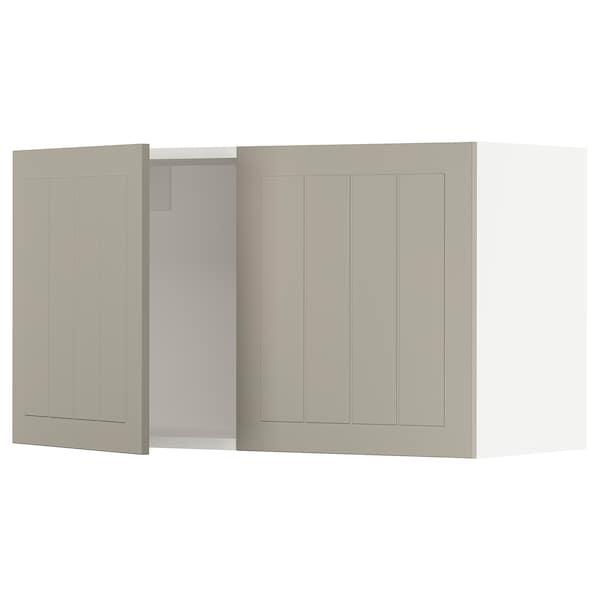 """SEKTION Wall cabinet with 2 doors, white/Stensund beige, 36x15x20 """""""