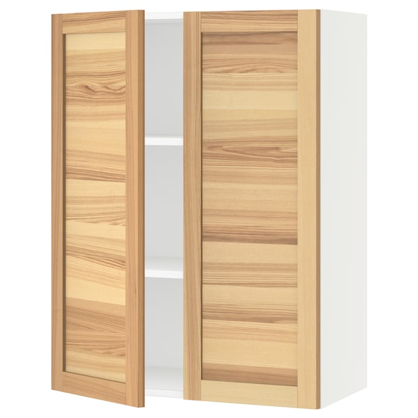 """SEKTION Wall cabinet with 2 doors, white/Torhamn ash, 30x15x40 """""""