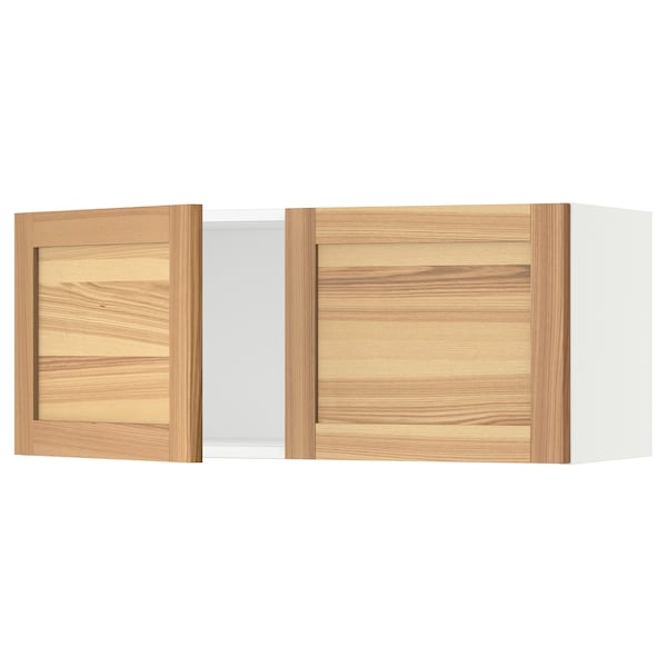 """SEKTION Wall cabinet with 2 doors, white/Torhamn ash, 36x15x15 """""""