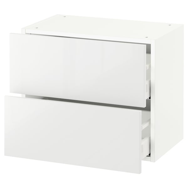 "SEKTION wall cabinet with 2 drawers white Maximera/Ringhult white 24 "" 15 1/2 "" 15 "" 20 """