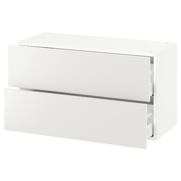 """SEKTION wall cabinet with 2 drawers white Maximera/Häggeby white 36 """" 15 1/2 """" 15 """" 20 """""""