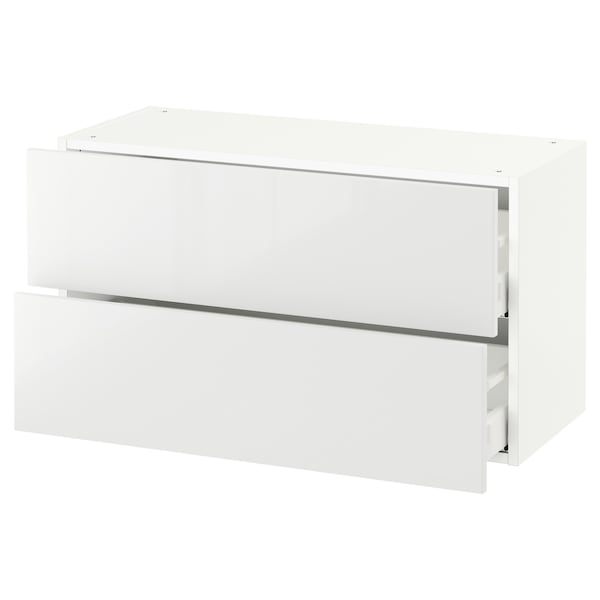 "SEKTION wall cabinet with 2 drawers white Maximera/Ringhult white 36 "" 15 1/2 "" 15 "" 20 """