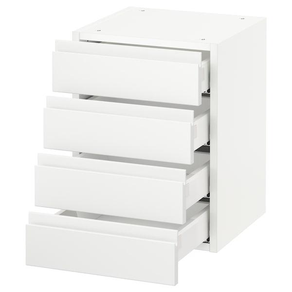 "SEKTION wall cabinet with 4 drawers white Maximera/Voxtorp matt white 15 "" 15 "" 15 3/8 "" 20 """