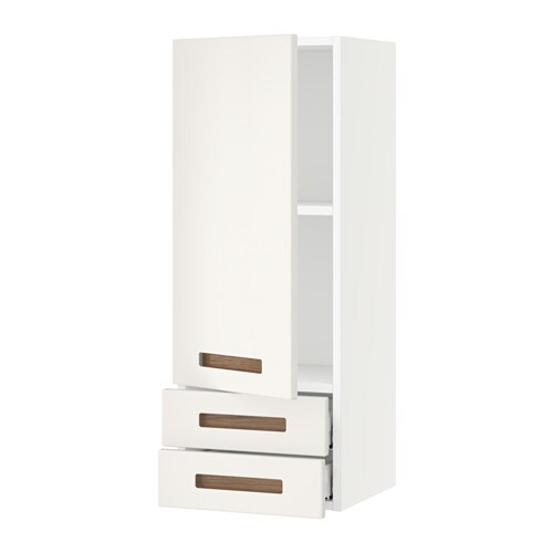 sektion wall cabinet with door 2 drawers white m rsta white