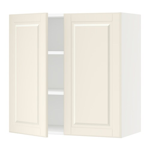 sektion wall cabinet with 2 doors white bodbyn off white