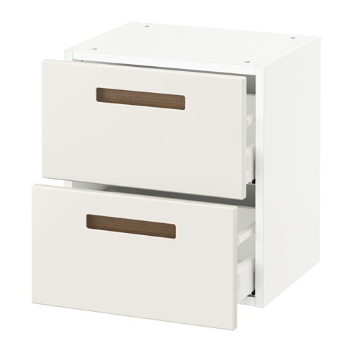sektion wall cabinet with 2 drawers white m rsta white