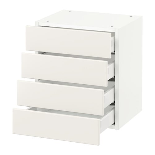 Sektion Wall Cabinet With 4 Drawers Ikea