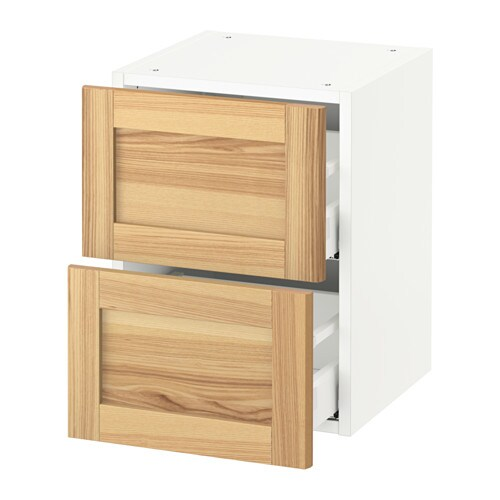 sektion wall cabinet with 2 drawers white torhamn