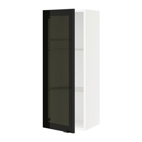 Sektion Wall Cabinet With Glass Door Jutis Smoked Glass Black