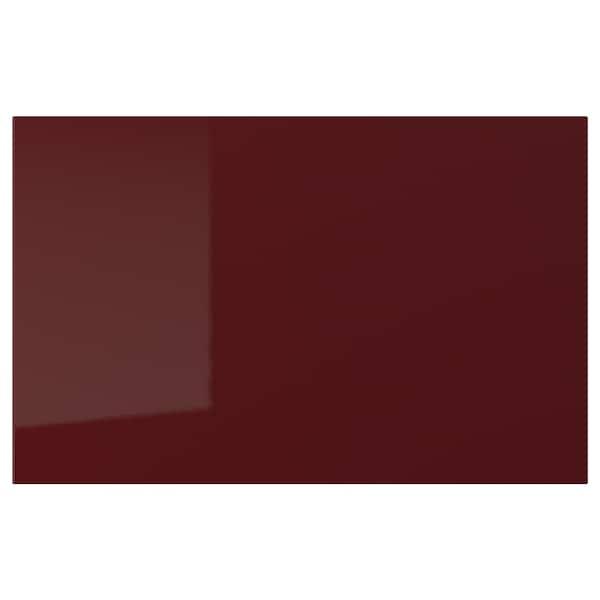 """SELSVIKEN Door/drawer front, high gloss dark red-brown, 23 5/8x15 """""""