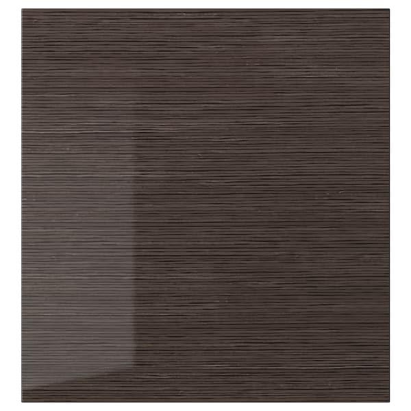 """SELSVIKEN Door, patterned high gloss brown, 23 5/8x25 1/4 """""""
