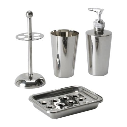 Semvik 4 piece bathroom set ikea - Bathroom accessories sets ikea ...