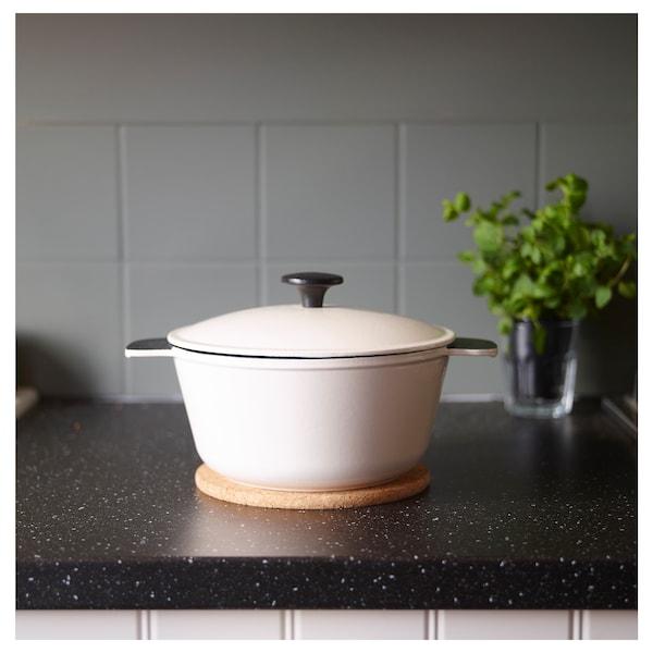 "SENIOR casserole with lid off-white 11 ¾ "" 9 ½ "" 4 "" 3.2 qt"