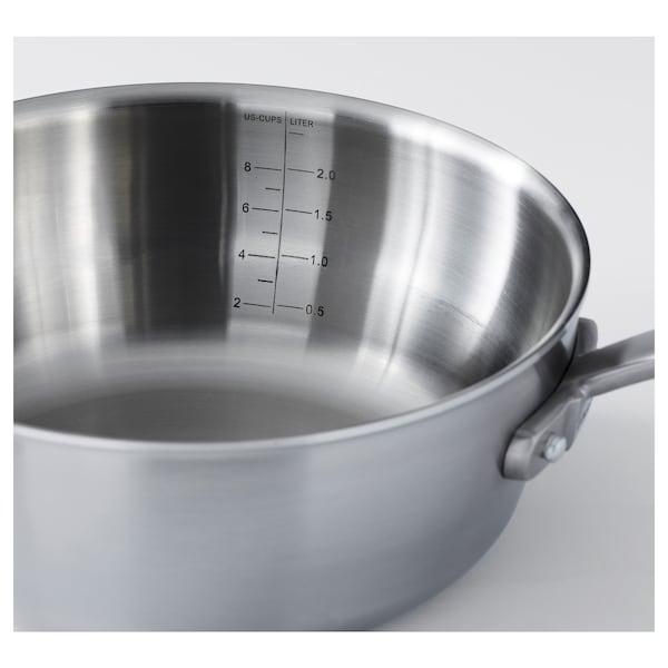 SENSUELL 4-piece cookware set, stainless steel/gray