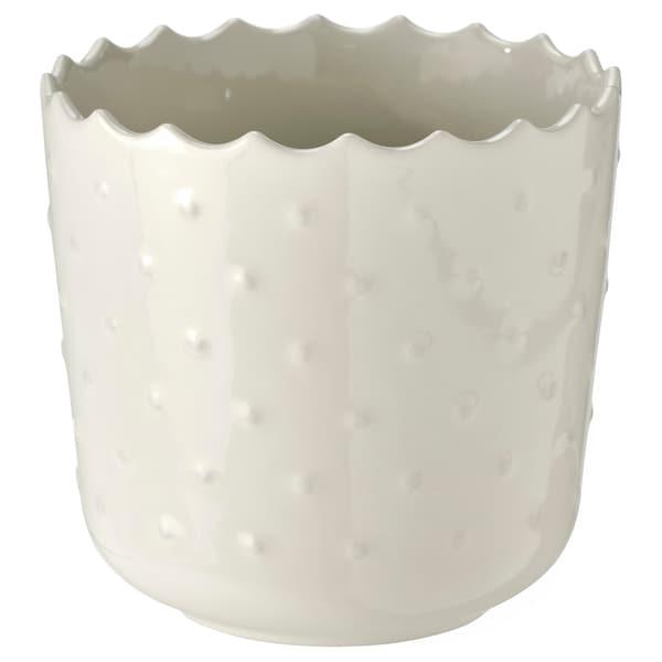 "SESAMFRÖN Plant pot, indoor/outdoor off-white, 3 ½ """