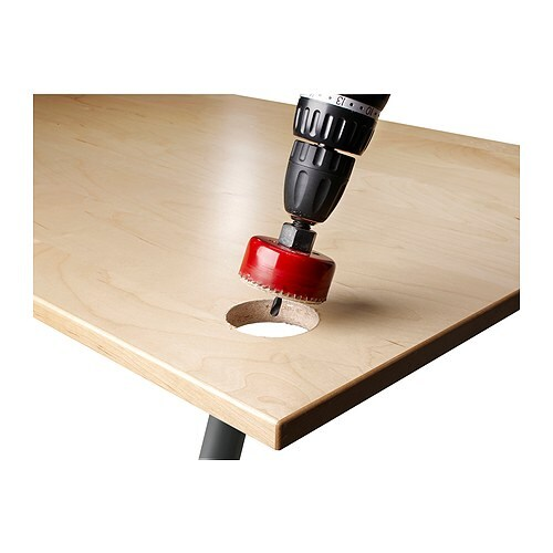 SIGNUM Cable outlet kit IKEA Easy to use to make an outlet for cables in a table top or a shelf.