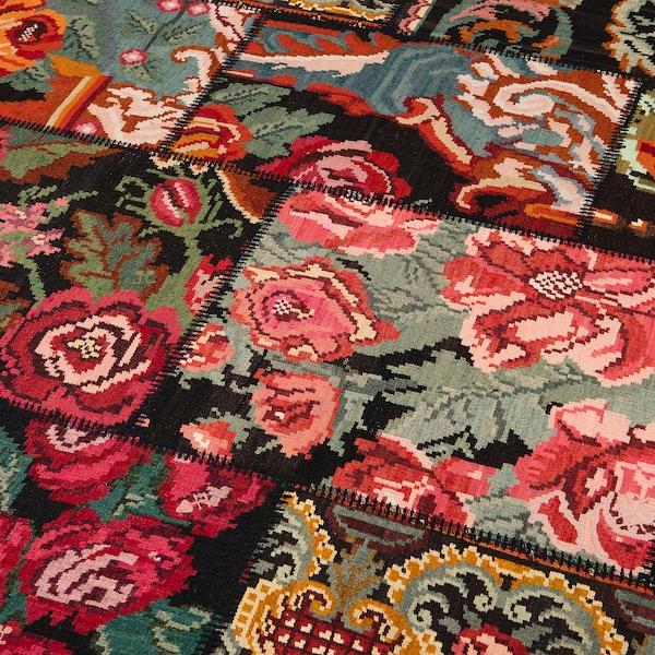 "SILKEBORG Rug, flatwoven, handmade rose, 5 ' 7 ""x7 ' 10 """