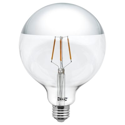 SILLBO LED bulb E26 140 lumen, globe/mirrored top silver colored, 5 ""