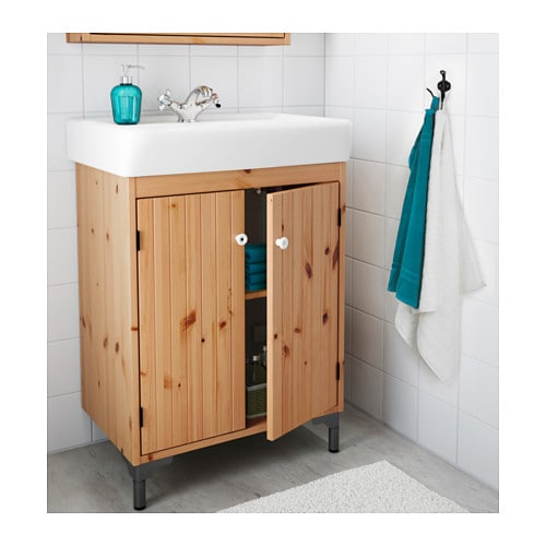 silverÅn / hamnviken sink cabinet with 2 doors - white, 23 5/8x17