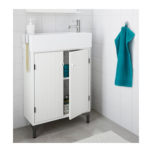 SILVERÅN Sink cabinet with 2 doors IKEA The shallow sink cabinet is perfect in a small  sc 1 st  Ikea & SILVERÅN Sink cabinet with 2 doors - IKEA