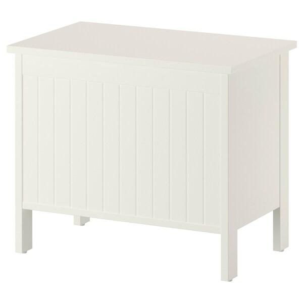 SILVERÅN Storage bench, white