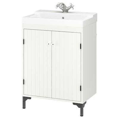 """SILVERÅN / TÄLLEVIKEN sink cabinet with 2 doors white/Runskär faucet 24 """" 23 5/8 """" 16 1/8 """" 34 1/2 """""""