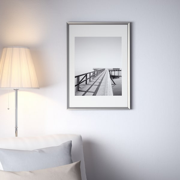 "SILVERHÖJDEN Frame, silver color, 19 ¾x27 ½ """