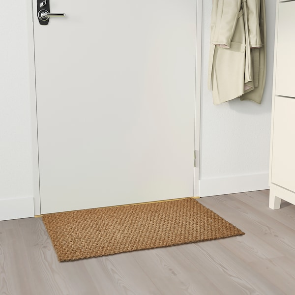 "SINDAL Door mat, natural, 1 ' 8 ""x2 ' 7 """