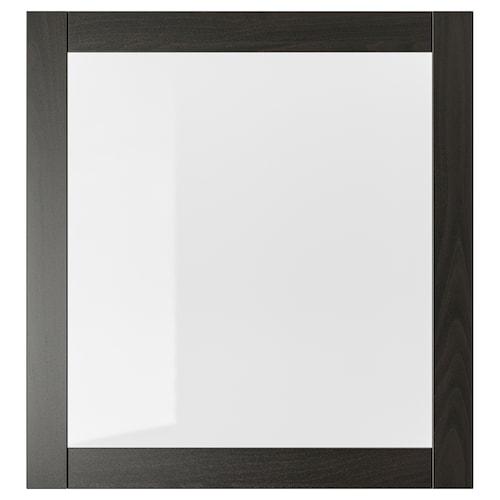 "SINDVIK glass door black-brown/clear glass 23 5/8 "" 25 1/4 """