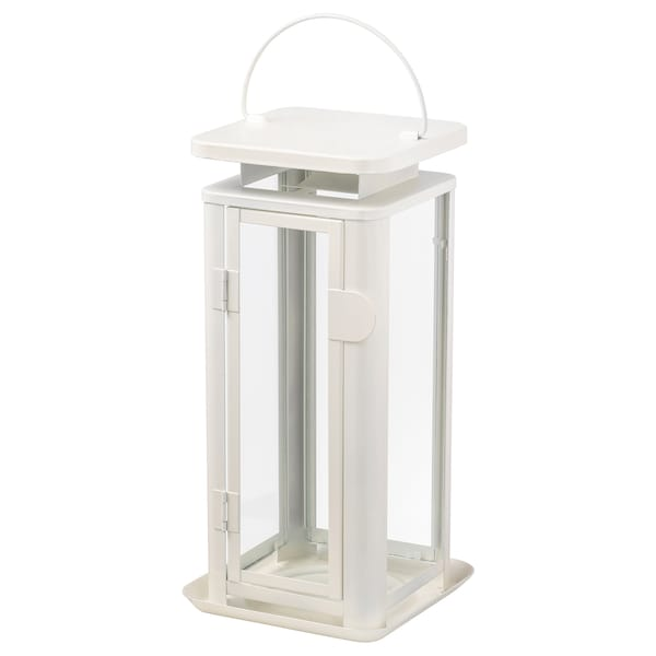 SINNESRO Lantern for candle, indoor/outdoor, white, 11 ½ ""