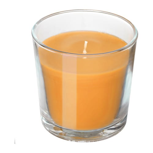 Sinnlig scented candle in glass ikea for How to scent candles