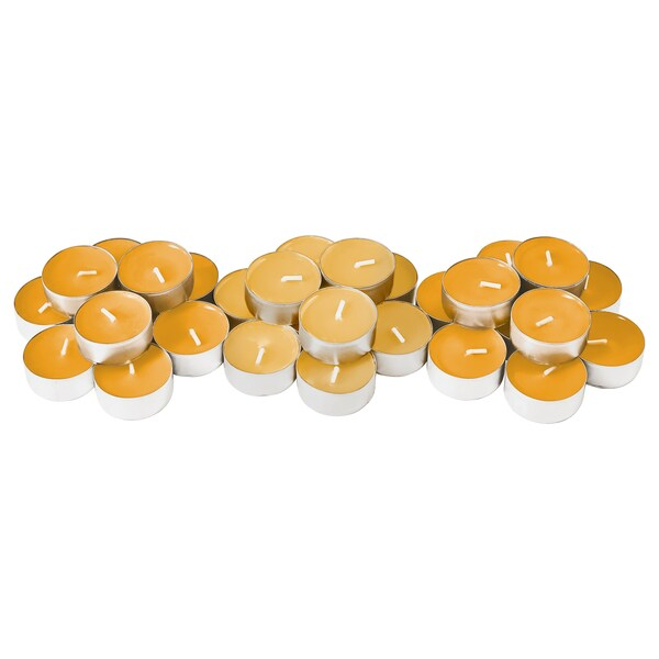 "SINNLIG scented tealight Tropical pineapple/yellow 1 ½ "" 4 hr 30 pack"