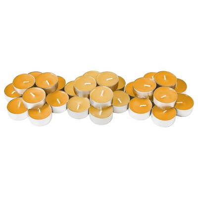 "SINNLIG scented tealight Tropical pineapple/yellow 1 ½ "" 4 hr 30 pack"
