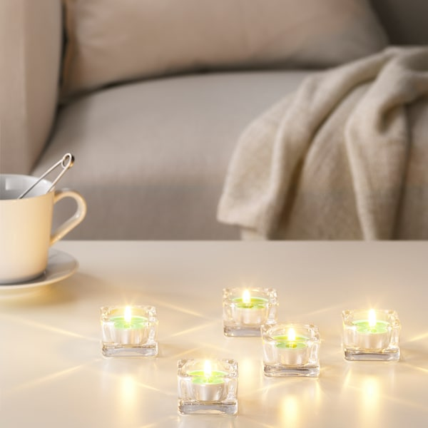 """SINNLIG scented tealight Apple and pear/green 1 ½ """" 4 hr 30 pack"""