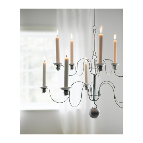 "SIRLIG Chandelier for 10 candles, galvanized Diameter: 25 ""  Diameter: 64 cm"