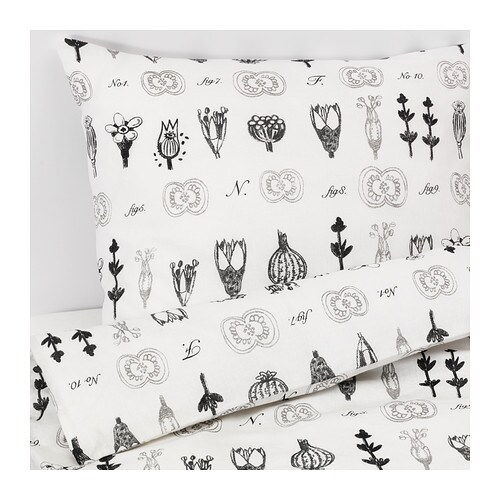 Sissela duvet cover and pillowcase s full queen double for Housse couette ikea