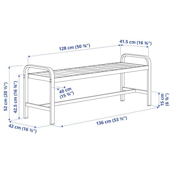 """SJÄLLAND Bench, outdoor, light gray/dark gray, 53 1/2 """""""