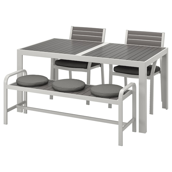 Super Table 2 Chairs And Bench Outdoor Sjalland Dark Gray Froson Duvholmen Dark Gray Onthecornerstone Fun Painted Chair Ideas Images Onthecornerstoneorg
