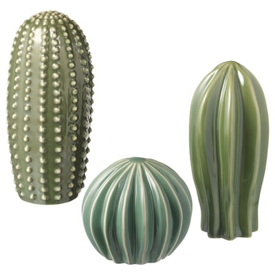 SJÄLSLIGT Decoration, set of 3, green